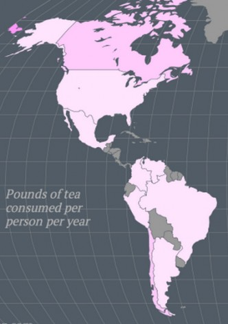 World Tea Consumption Map